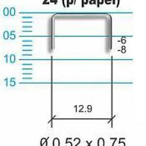 Grampos 24 (aço inoxidável e aço comum)